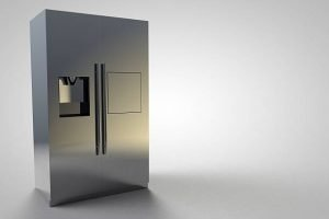 Refrigerator Kitchen Furniture Design silver modern large 3D